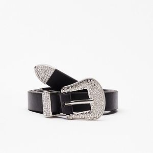 NWT Nasty Gal Callin All Country Queens Black Belt